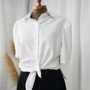 Camisa Branca Manga Curta Princesa