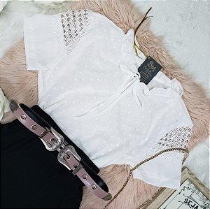 Blusa Crepe Fofa Branca