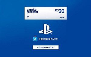 Gift Card Playstation store de 30 Reais