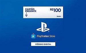 Gift Card Playstation store de 100 Reais