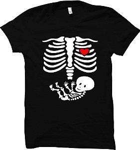 Camiseta Grávida - Raio-x do Bebê