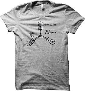 Camiseta Esboço Capacitor de Fluxo