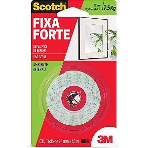 FITA DUPLA FACE DE ESPUMA 24X1,5M FIXA FORTE SCOTCH 3M