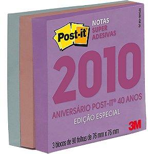 POST-IT 76X76MM C/270 FOLHAS COLEÇÃO ANOS 2010 3M