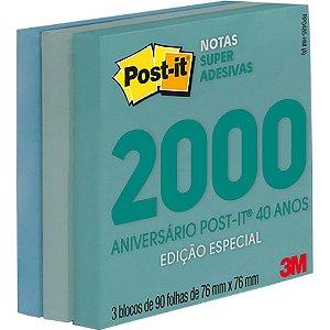 POST-IT 76X76MM C/270 FOLHAS COLEÇÃO ANOS 2000 3M