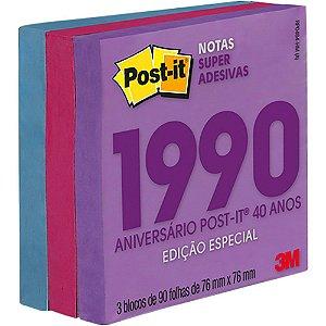 POST-IT 76X76MM C/270 FOLHAS COLEÇÃO ANOS 90 3M
