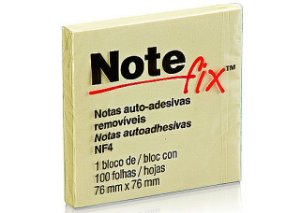 NOTEFIX 76X76MM C/100 FOLHAS AMARELO 3M NF4