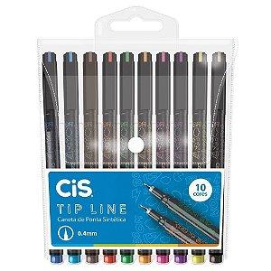 CANETA TIP LINE C/10 CORES 0.4 CIS 76.2000