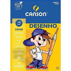 BLOCO DE DESENHO A3 140G CREME COM 20 FOLHAS CANSON 66667073