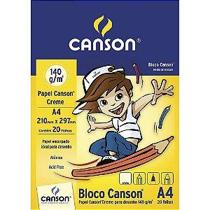 BLOCO DE DESENHO A4 140G CREME COM 20 FOLHAS CANSON 66667072