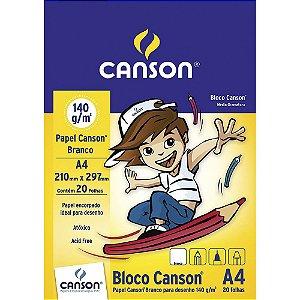 BLOCO DE DESENHO A4 140G BRANCO COM 20 FOLHAS CANSON 66667070