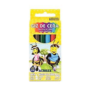 GIZ DE CERA C/6 CORES 24G ACRILEX 09006