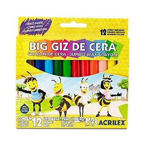 BIG GIZ DE CERA C/12 CORES 112G ACRILEX 09111