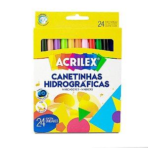CANETINHA HIDROGRÁFICA C/24 CORES ACRILEX 06924