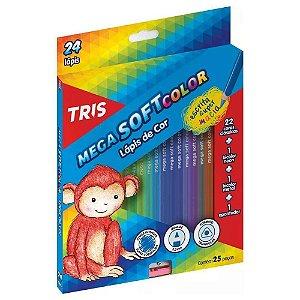 LÁPIS DE COR MEGA SOFT COLOR C/24 CORES TRIS 680224