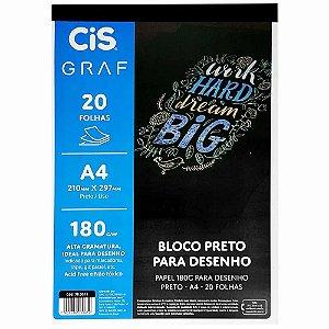 BLOCO PRETO A4 180G C/20 FOLHAS CIS GRAF 70.0011