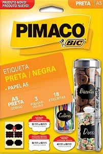 ETIQUETA INKJET/LASER A5 PRETA 50,0 x 65,0 C/3 FLS PIMACO 935255