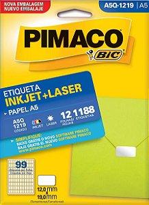ETIQUETA INKJET/LASER A5 12,0 x 19,0 C/12 FLS PIMACO A5Q-1219