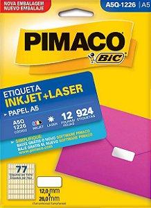 ETIQUETA INKJET/LASER A5 12,0 x 26,0 C/12 FLS PIMACO A5Q-1226