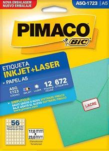 ETIQUETA INKJET/LASER A5 17,0 x 23,0 C/12 FLS PIMACO A5Q-1723