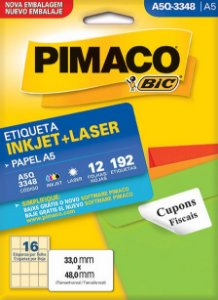 ETIQUETA INKJET/LASER A5 33,0 x 48,0 C/12 FLS PIMACO A5Q-3348