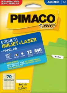 ETIQUETA INKJET/LASER A5 9,0 x 32,0 C/12 FLS PIMACO A5Q-932