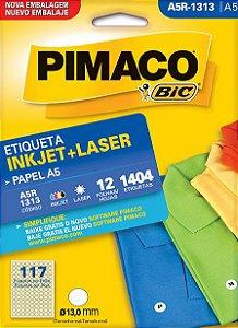 ETIQUETA INKJET/LASER A5 13,0MM C/12 FLS PIMACO A5R-1313