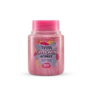 TINTA CINTILANTE ROSA ANTIGO 100ML ACRILEX 828