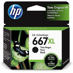 CARTUCHO HP 667XL PRETO ORIGINAL 3YM81AB