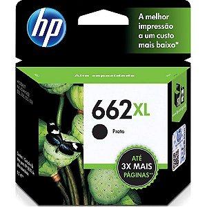 CARTUCHO HP 662XL PRETO ORIGINAL CZ105AB