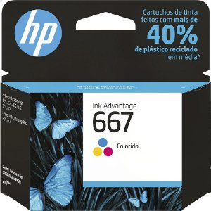 CARTUCHO HP 667 COLORIDO ORIGINAL 3YM78AB