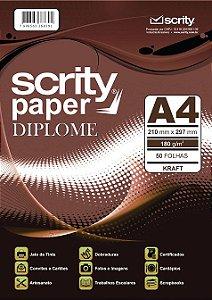 PAPEL DIPLOME KRAFT A4 180G PCTE C/50 FOLHAS SCRITY SP 052.06