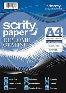 PAPEL DIPLOME BRANCO A4 120G PCTE C/50 FOLHAS SCRITY SP 051.01