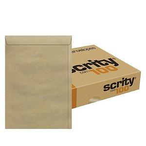 ENVELOPE SACO KRAFT NATURAL 370x470 80G CX C/100 UN. SCRITY SKN347