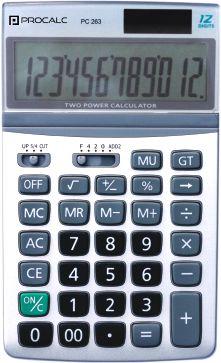 CALCULADORA DE MESA 12 DÍGITOS PROCALC PC263