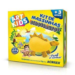 KIT DE MASSINHAS DE MODELAR DINOSSAUROS AMARELOS ACRILEX 40051