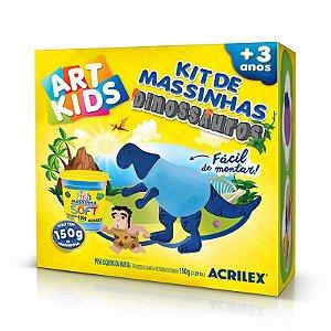 KIT DE MASSINHAS DE MODELAR DINOSSAUROS AZUIS ACRILEX 40050