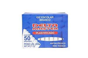 GIZ ESCOLAR PLASTIFICADO BRANCO CX C/50 UN. DELTA 0030