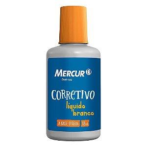CORRETIVO LÍQUIDO 18ML MERCUR B01010103013