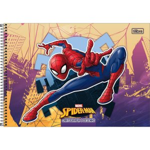 CARTOGRAFIA CAPA DURA (SEM SEDA) 80 FOLHAS SPIDER-MAN TILIBRA 309184