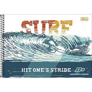 CARTOGRAFIA CAPA DURA (SEM SEDA) 96 FOLHAS SURF TILIBRA D+ 142905
