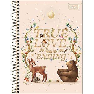 CADERNO 1/4 CAPA DURA ESPIRAL 80 FOLHAS TRUE LOVE LOVELAND TILIBRA 322831