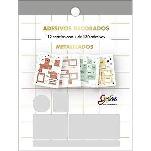 BLOCO DE ADESIVOS DECORADOS METALIZADO C/12 FOLHAS WEST VILLAGE TILIBRA GRAFONS 316971