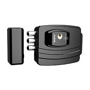 Fechadura Eletronica AGL Ultra Chave Simp F Espelhada Preta