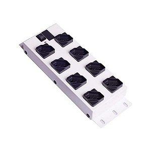 Filtro de Linha Metalico Ipec 8 Tomadas - A2265