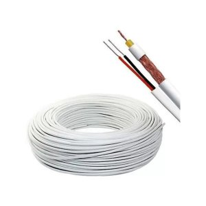 Cabo Coaxial Megatron Dupla Blind 4mm + 2 AWG 100m Branco