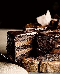 Bolo Mousse de Chocolate - Zero Açúcar - vegano, sem glúten, sem lácteos