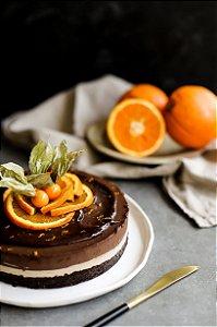 Torta de Chocolate e Laranja - Dia do Pais -Zero Açúcar- vegana, sem glúten e lácteos