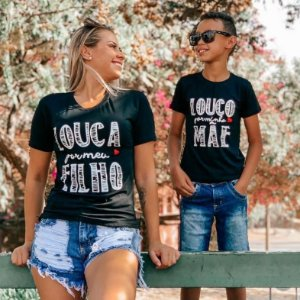 T-shirt Louca por meu filho - ADULTO