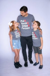 Camiseta Pai Herói - INFANTIL (feminina)